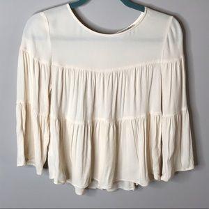 Madewell • Sz XS Cream Long Sleeve Blouse
